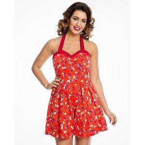 NWT Lindy Bop Cherry Pie Pinup Romper Playsuit